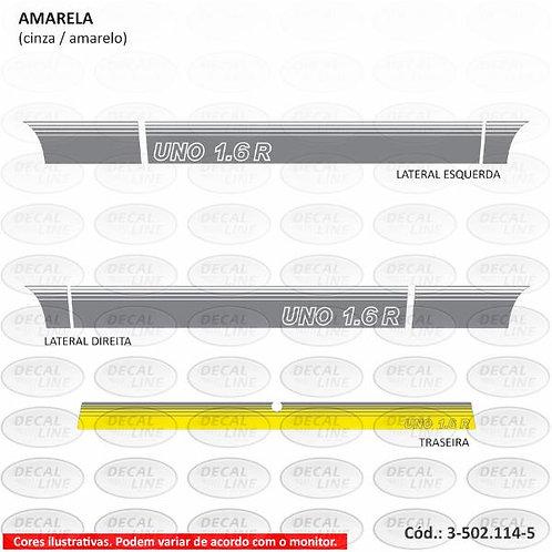 Faixa Auto Adesiva Para Fiat Uno Mille Modelo 1.6 R