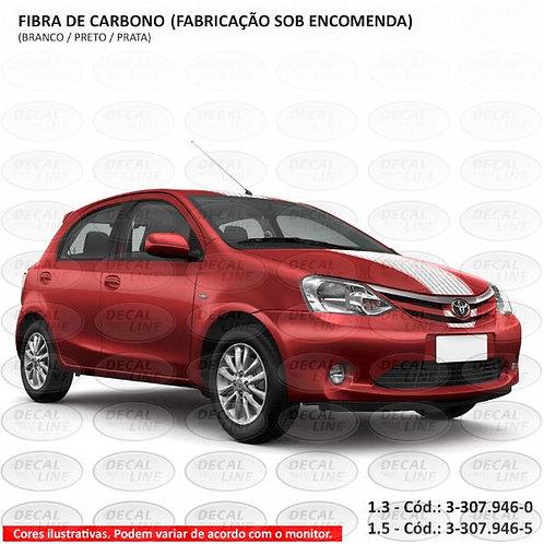 Faixa Auto Adesiva Toyota Etios - Fibra de Carbono 1.5
