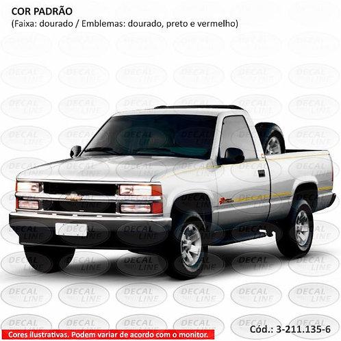 Faixa Auto Adesiva Chevrolet Silverado Conquest 1999