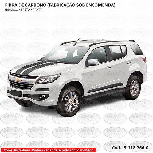 Faixa Auto Adesiva Universal Única - Grande - Fibra De Carbono