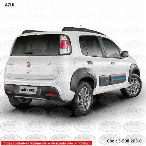 Faixa Auto Adesiva Para Fiat Novo Uno -  Modelo Friso Way