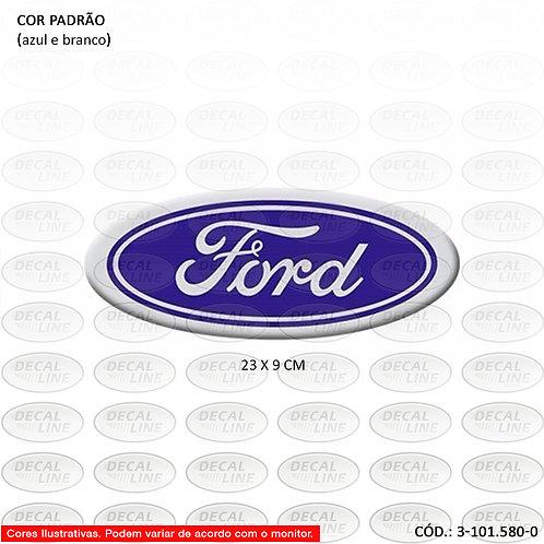 Emblema Auto Adesivo Para Caminhão Ford Oval Grande