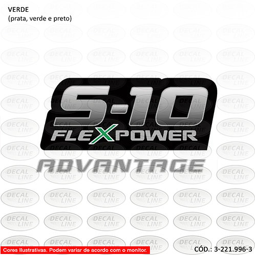 Emblema Auto Adesivo S10 FlexPower Advantage Modelo 2009