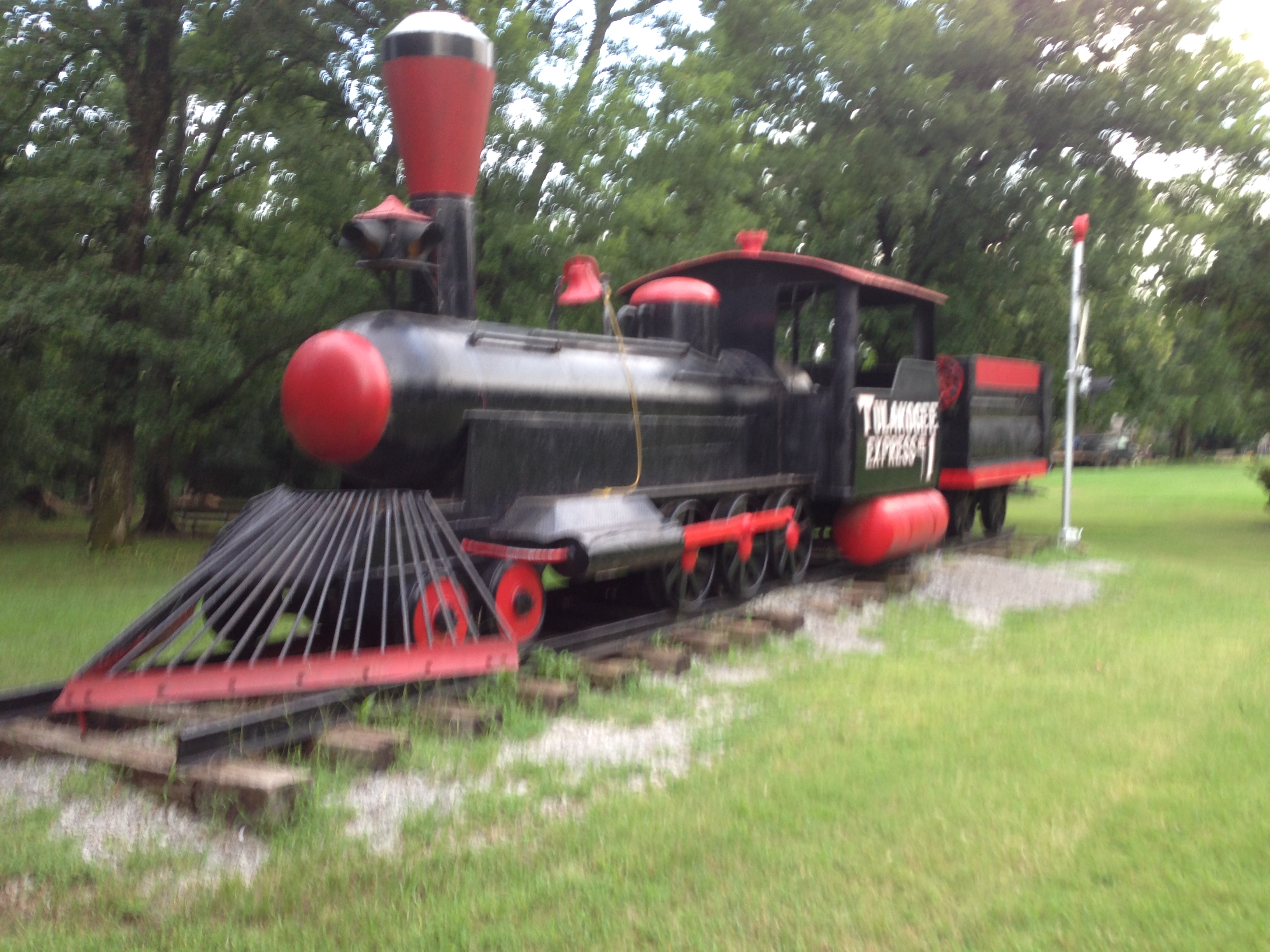 The train engine at entrance
