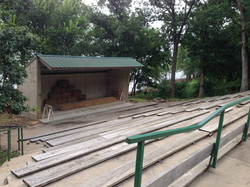 The ampitheatre that faces lake