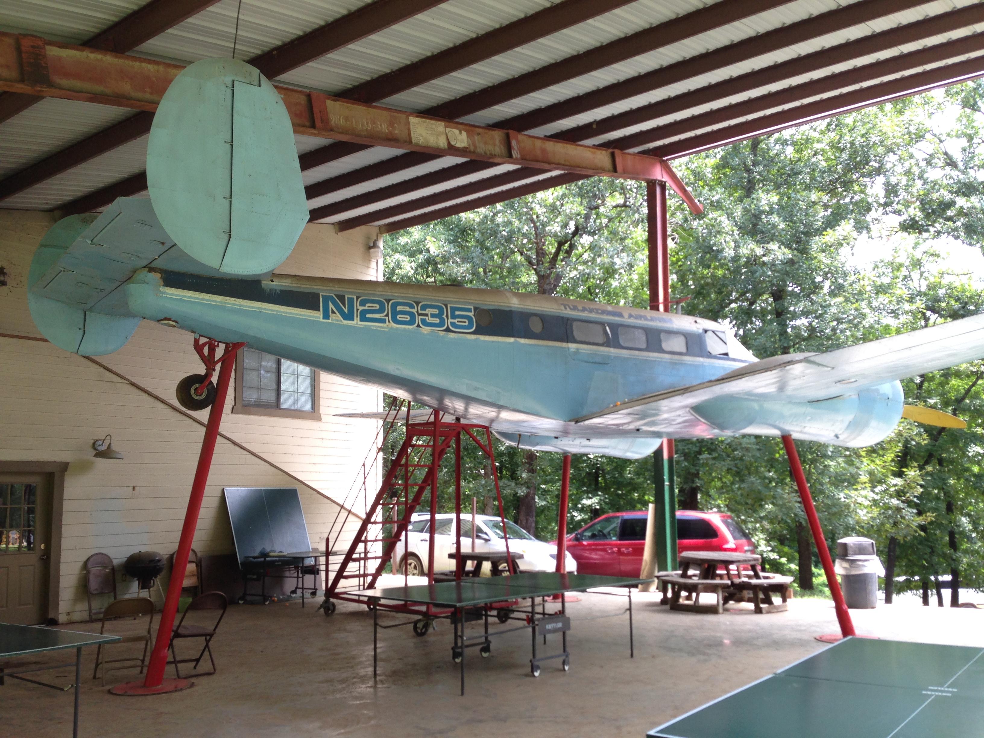 The twin engine passenger plane
