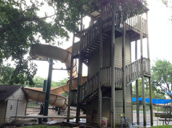 The pool slide.