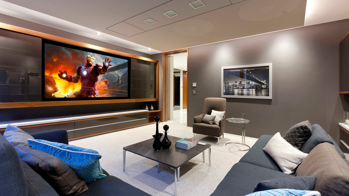 Home entertainment with audiovisual and control along with home security alarm and CCTV cameras