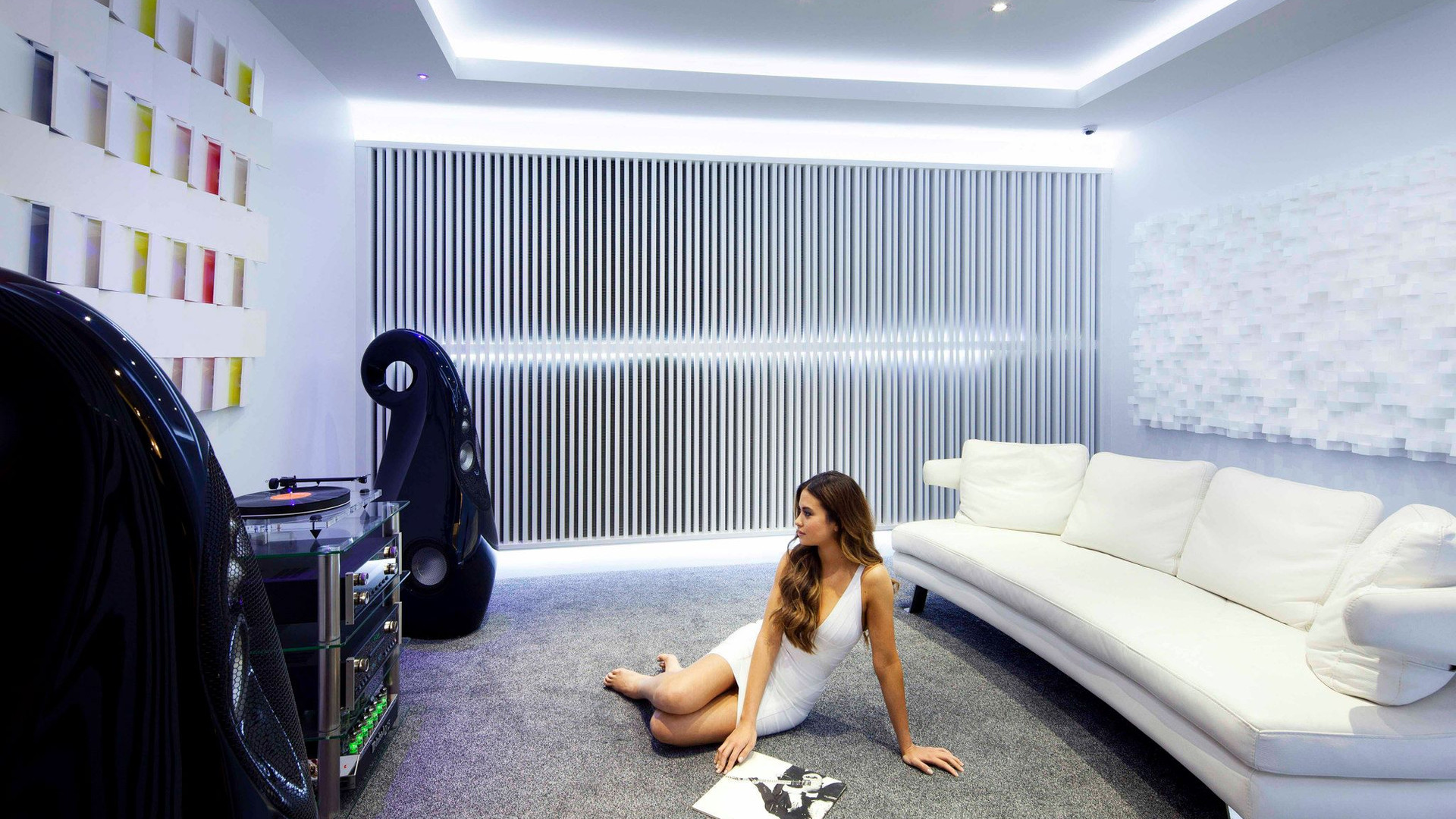 HIFI and home entertainment this room has acoustic treatment for getting the sound right along with Vivid audio and Mcintosh amplification