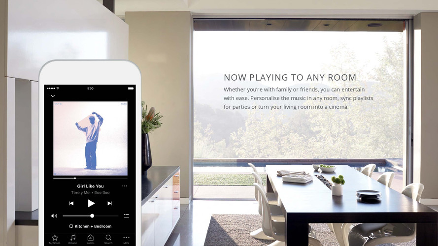 Using a single app to control home audio and lighting control and blind control and security