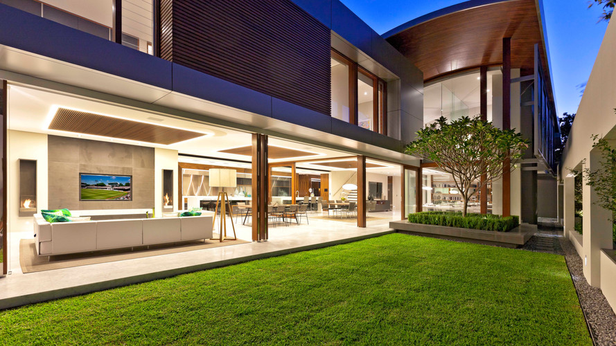 Lighting control and home automation in this house along with security and energy management
