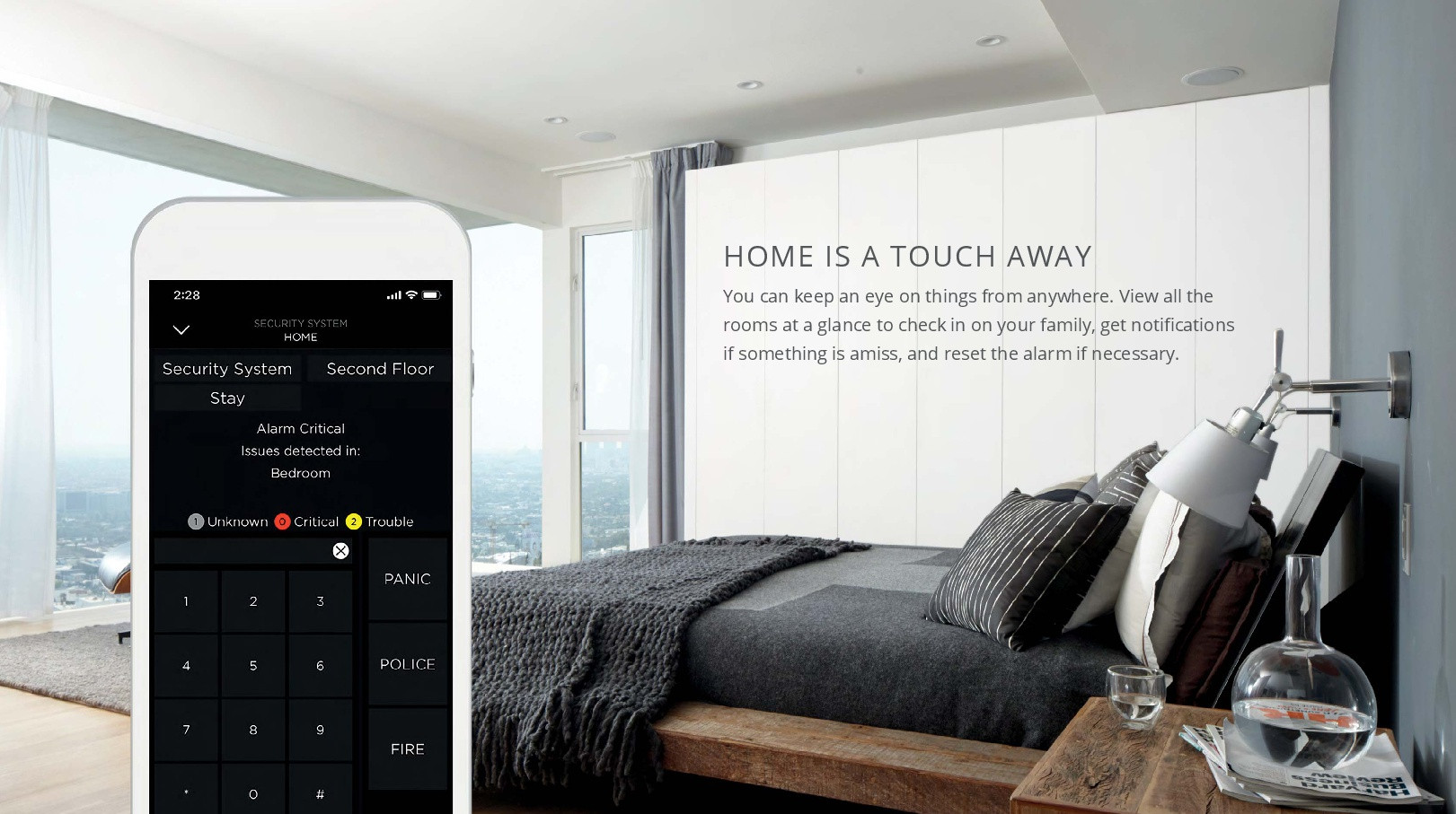 Home automation and control using a single app from an iphone or ipad also controlling security and home audio
