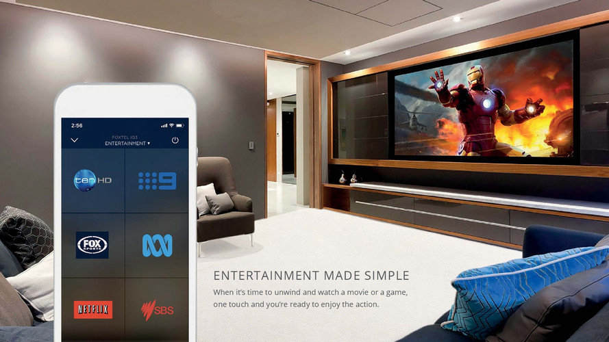 Home automation and control of audiovisual space with lighting control and video streaming
