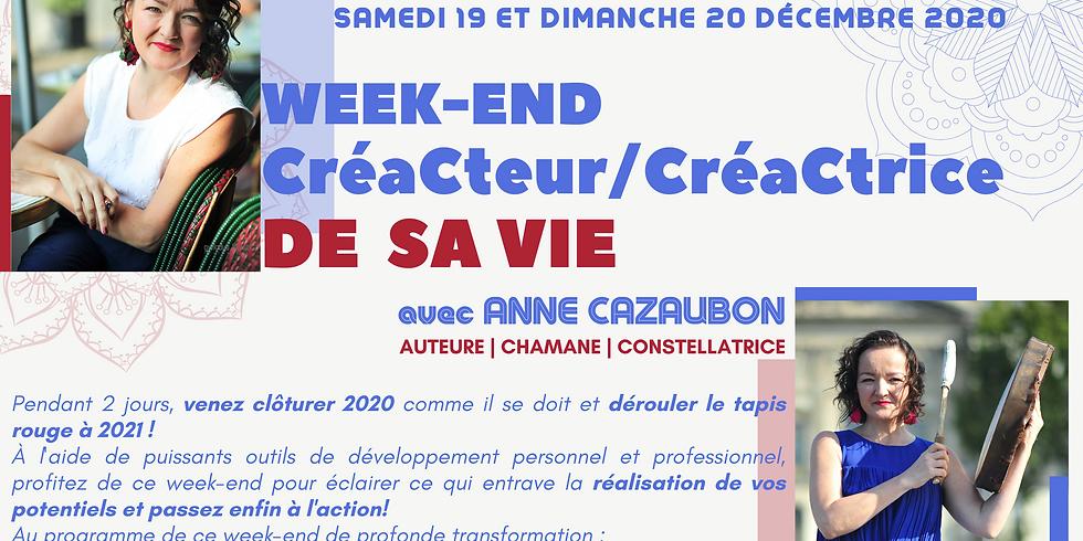 """STAGE """"CRÉACTEUR/CRÉACTRICE DE SA VIE"""" / BESANÇON / 19-20 DÉCEMBRE 2020"""