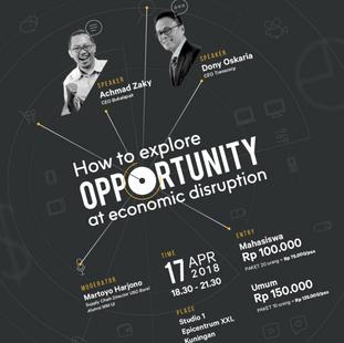 """CEO TALKS ILUNI MMUI """"Explore Opportunity in Disrupted Economy"""""""