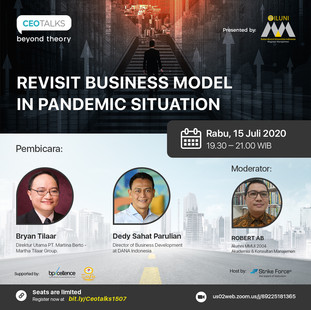 """CEO TALKS BEYOND THEORY """"Revisit Business Model In Pandemic Situation"""""""