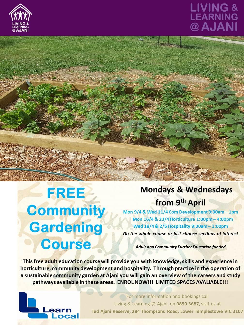 A3 poster Community Garden course
