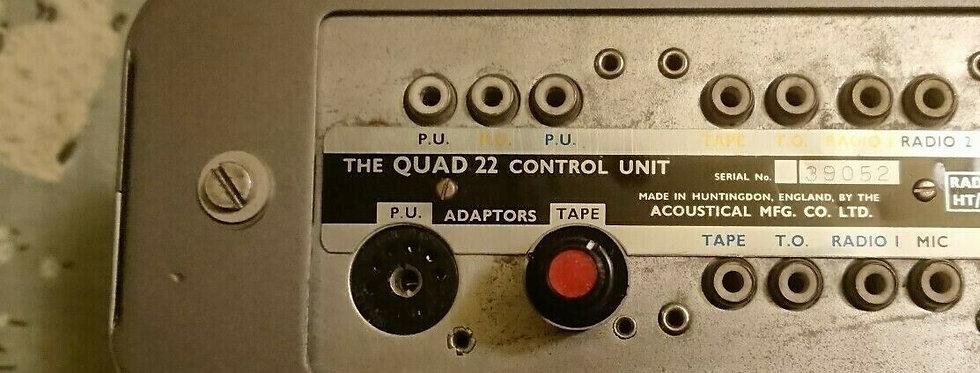 Quad II 22 pre-amp plug in tape adaptor 100K OHM Adjustable level - CD/TV etc.