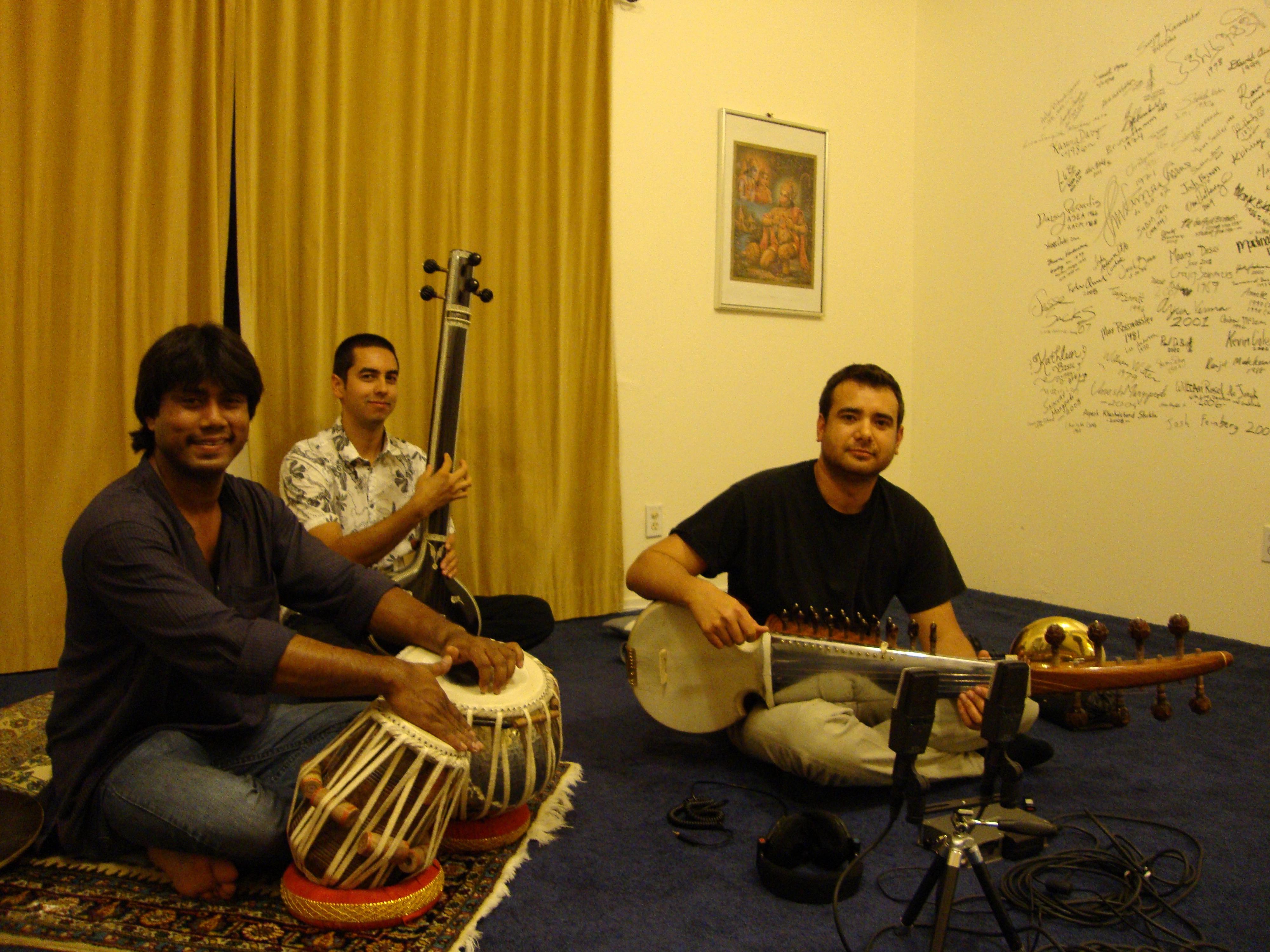 Anirban with Alam Khan