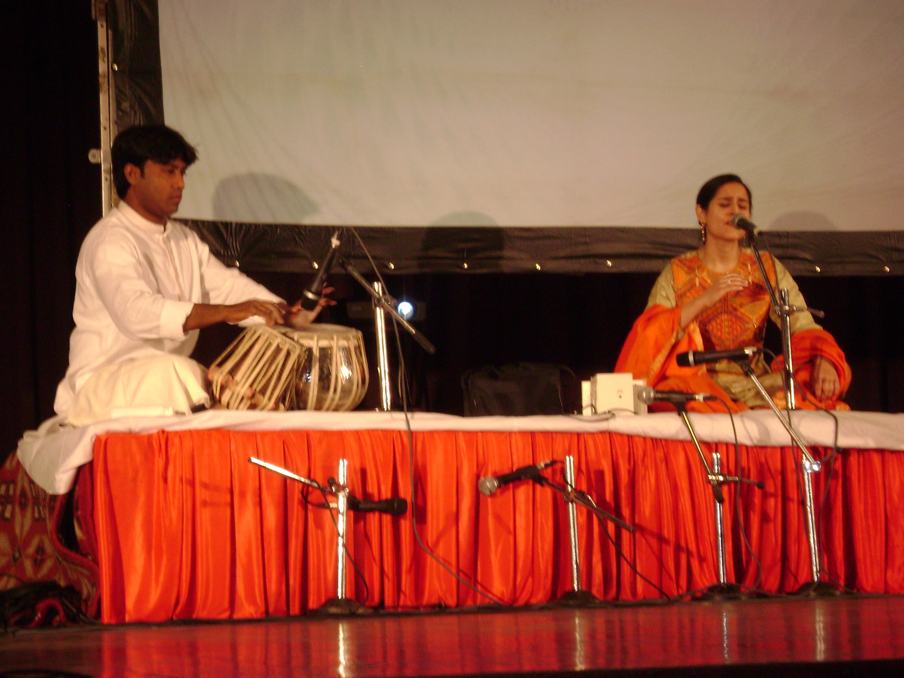 Anirban with Vocalist