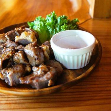 猪肉のサイコロステーキ