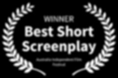 WINNER-BestShortScreenplay-AustraliaInde