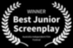 WINNER-BestJuniorScreenplay-AustraliaInd