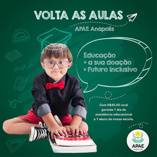 Volta as aulas APAE Anápolis