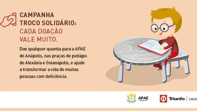 Triunfo Concebra e APAE Anápolis iniciam Campanha Troco Solidário