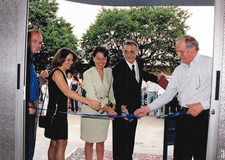 1998 - Inauguração do laboratório no prédio reformado
