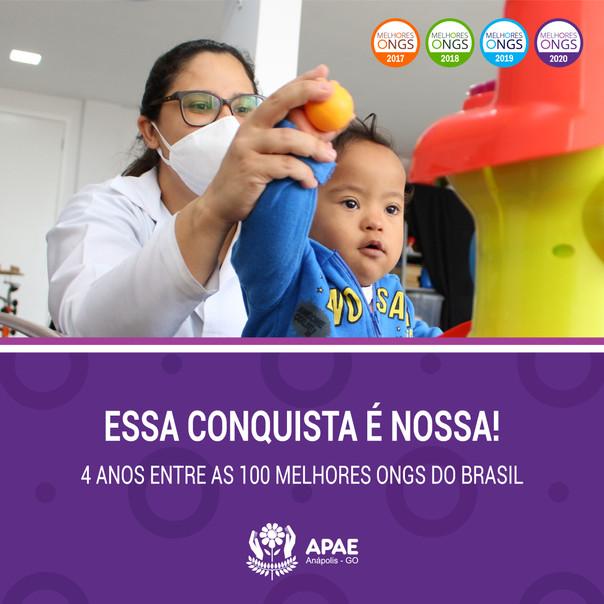 APAE Anápolis mais uma vez está entre as melhores ONGs do Brasil