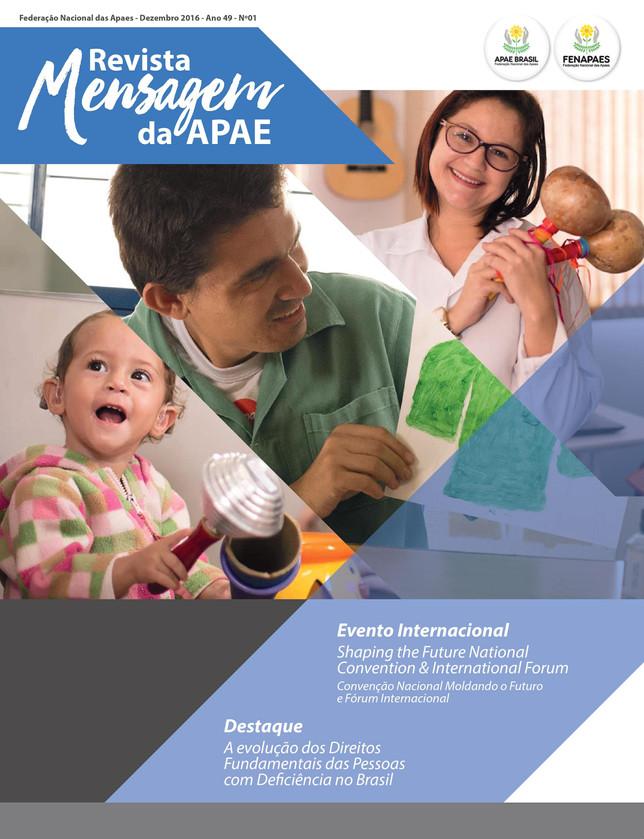 """Projeto de inclusão é matéria na revista """"Mensagem"""" da APAE Brasil"""