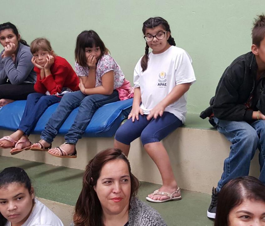 Alunos da escola
