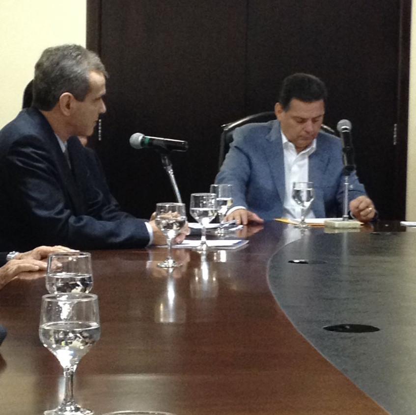 Governador Marconi Perillo e o Secretário Estadual de Saúde, Dr. Leonardo Vilela.