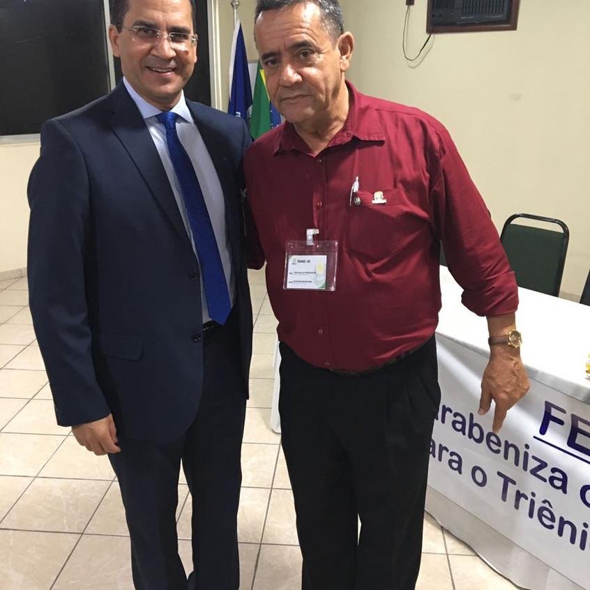Dr. Hélio Lopes e Wagner Benevide, presidente da FEAPAEs