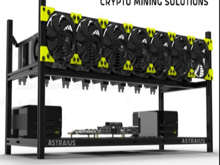 Mining Rig Kit, All-In-One Starter Setup, 8 GPU Cryptocurrency, Bitcoin BTC ETH