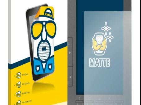 2x screen protector for Biblet eBook Reader, matt anti-reflective