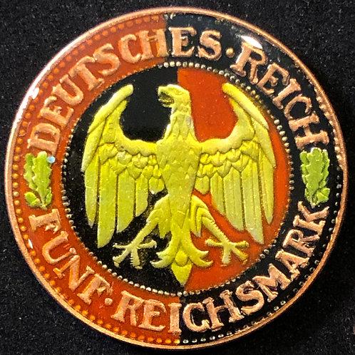GERMANY - 5 DEUTCHESMARK 1927
