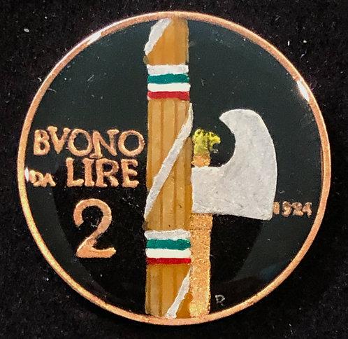 ITALY - 2 LIRE (AXE)