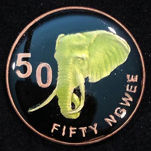 ZAMBIA - ELEPHANT 50 NGWEE