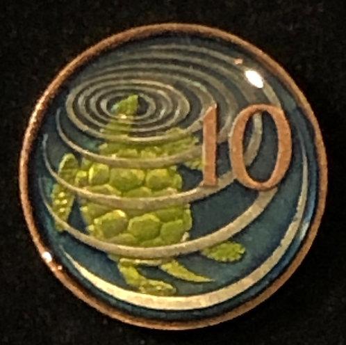 CAYMAN ISLANDS - TURTLE - 10 CENT