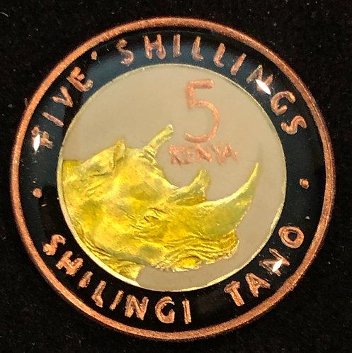 KENYA - RHINO - 5 SHILLING