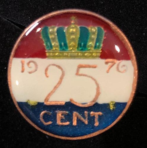 NETHERLANDS - 25 CENT - CROWN