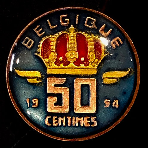 BELGIUM - 50 CENTS - CROWN
