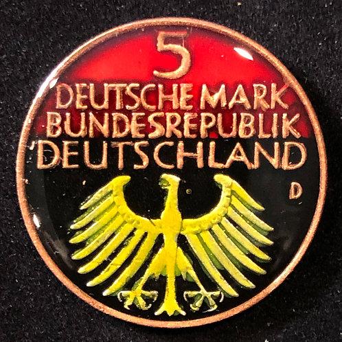 GERMANY - 5 DEUTCHESMARK 1952