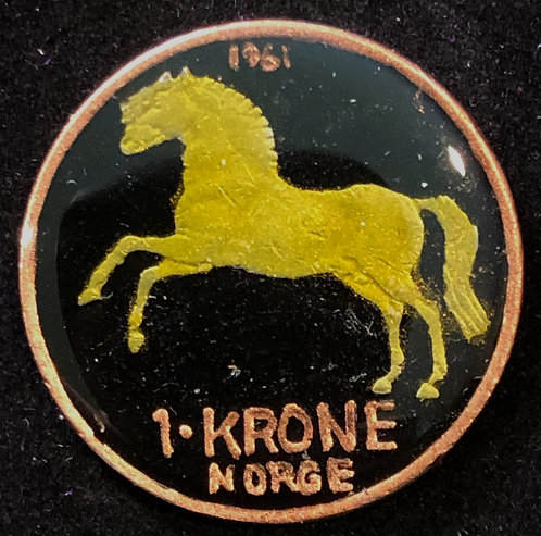 NORWAY - 1 KRONE (HORSE)