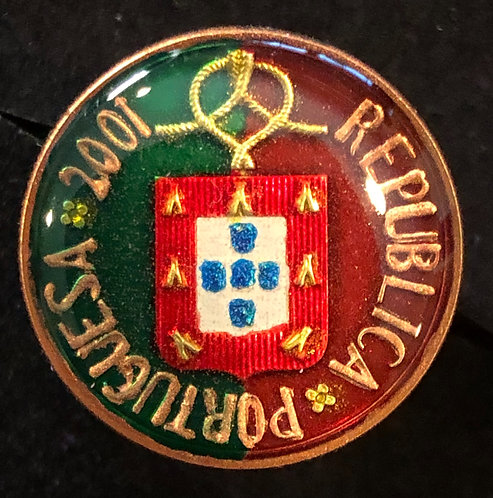 PORTUGAL - CREST WITH FLAG COLORS