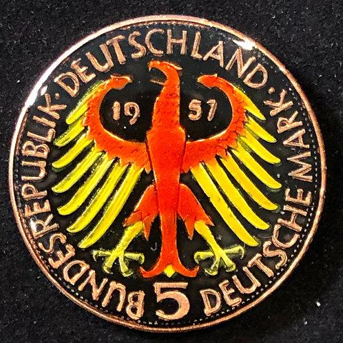 GERMANY - 5 DEUTCHESMARK 1957