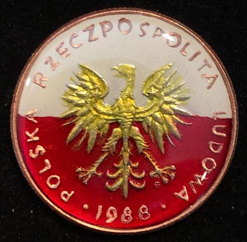 POLAND - EAGLE (FLAG BKGRD)