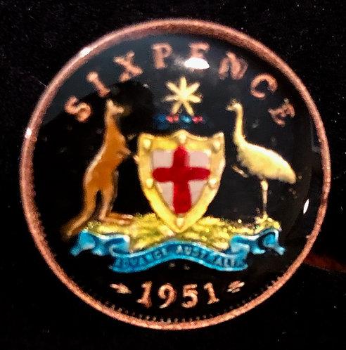 AUSTRALIA - SIX PENCE (OLD)